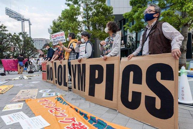 Protesta contra els Jocs Olímpics a Tòquio
