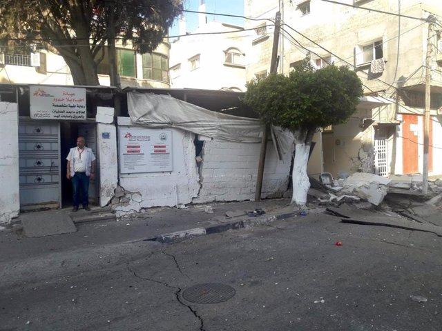 Danys en una clínica de MSF a Gaza
