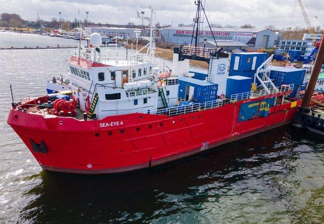 Archivo - Arxiu - El barco de rescat 'Sea-Eye 4' de l'ONG alemanya Sea Eye