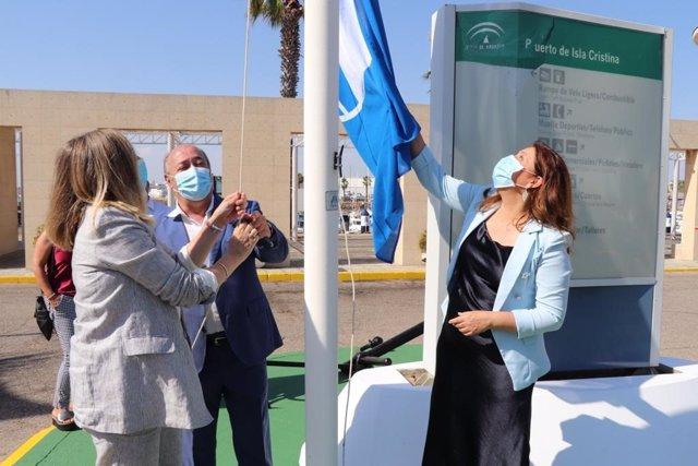 Bandera Azul en Isla Cristina (Huelva).