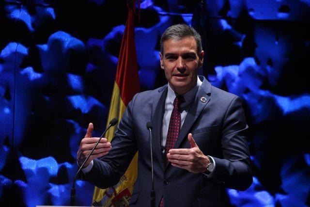 El president del Govern espanyol, Pedro Sánchez, en el IV Congrés Iberoamericà del Consell Empresarial Aliança per Iberoamèrica.