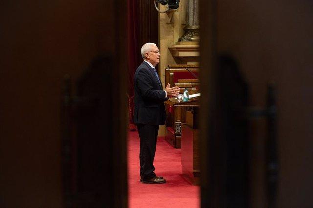 Archivo - Arxiu - El diputat del PP Santi Rodríguez al Parlament.