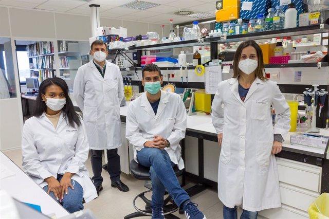 Karol Córdoba, Antonio Fontanellas, Daniel Jericó y Ana Sampedro, equipo del Cima que ha realizado el estudio
