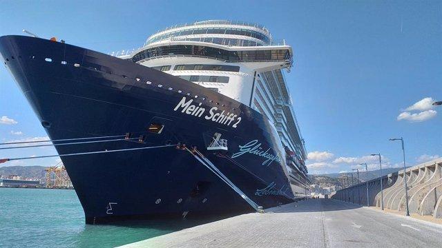 El puerto de Málaga retomará el turismo de cruceros el 15 de junio con la escala del buque Mein Schiff 2