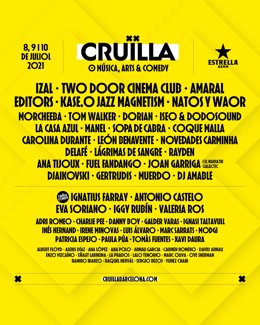 Cartell del Festival Cruïlla de Barcelona
