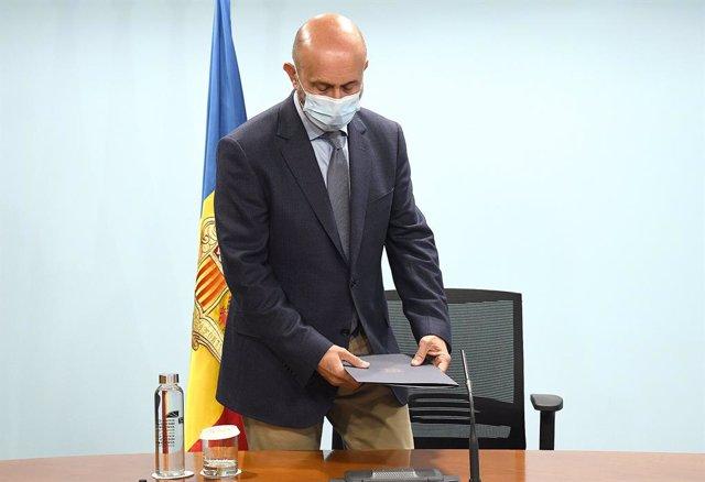 El ministre andorrà de Salut, Joan Martínez Benazet.