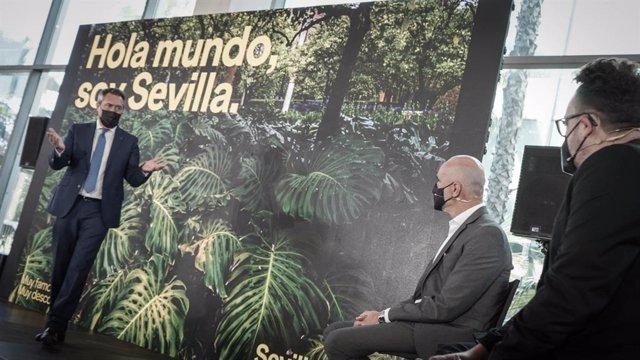 Espadas, en la presentación de la nueva estrategia de promoción de Sevilla