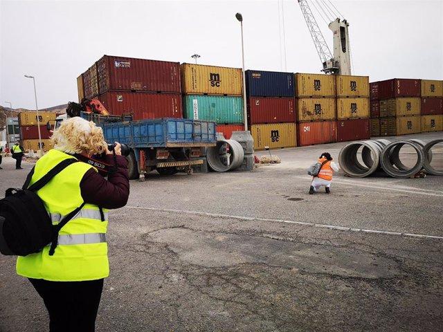 Participantes del concurso de fotografía del Puerto de Almería
