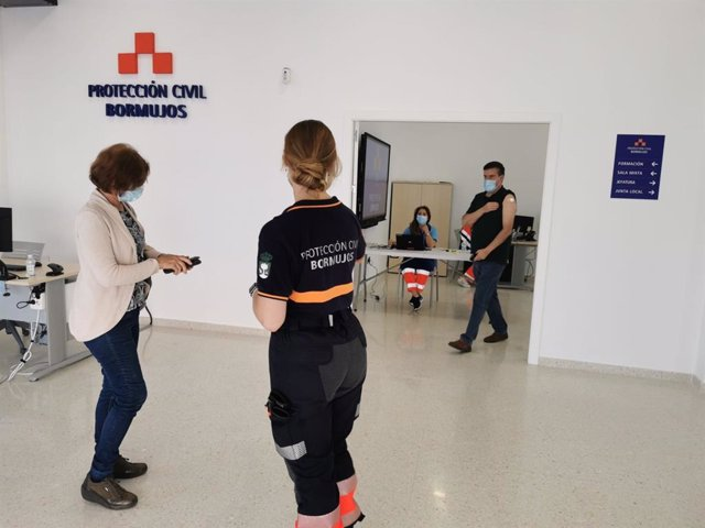 Vacunaciones en la sede de Protección Civil de Bormujos