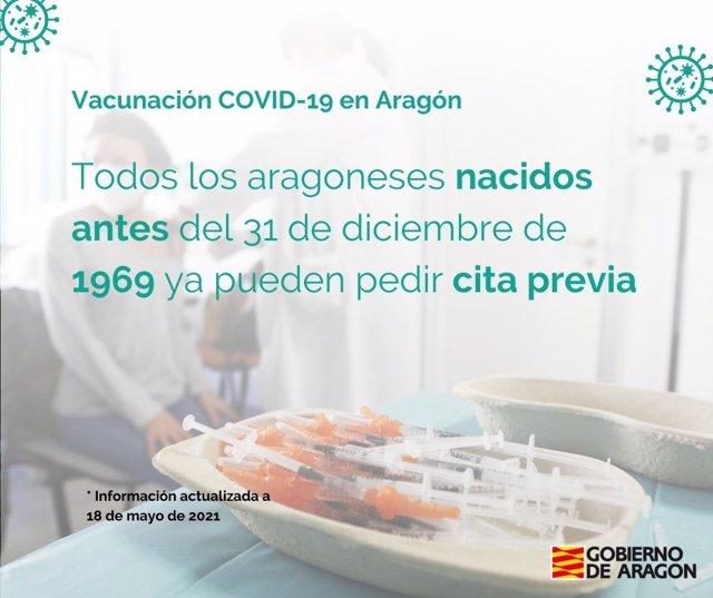 Más de 700.000 vacunas se han puesto ya en Aragón