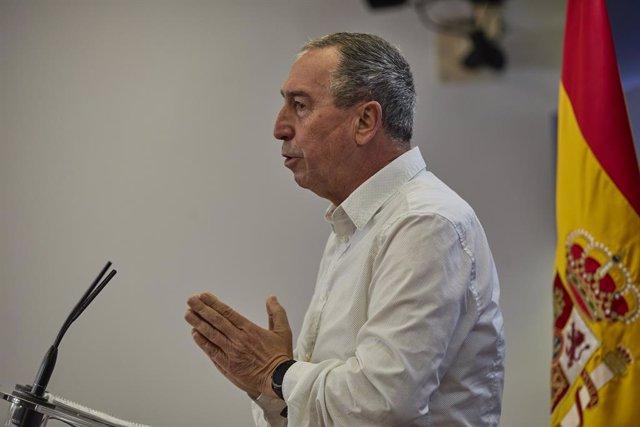 El portaveu de Compromís en el Congrés, Joan Baldoví, intervé en una roda de premsa anterior a una Junta de Portaveus