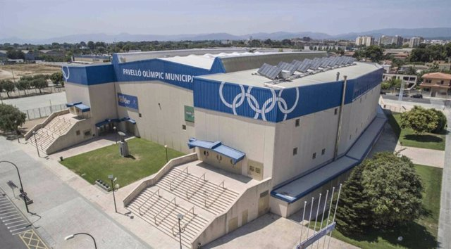 Exterior del Pavelló Olímpic Municipal de Reus, sede del Estrella Damm Reus-Costa Daurada Open del World Padel Tour en 2022 y 2023