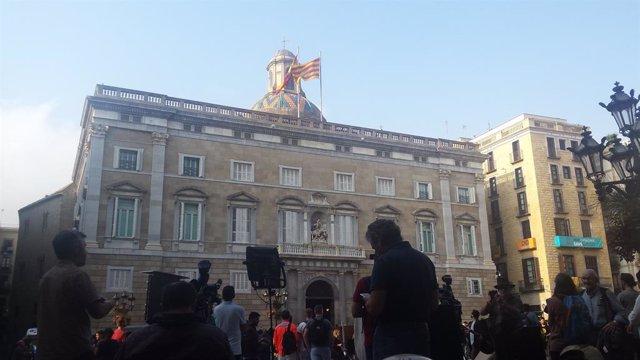 Archivo - Arxiu - Façana del Palau de la Generalitat.