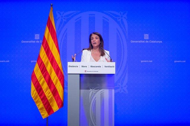 La consellera de Presidència i portaveu del Govern en funcions, Meritxell Budó.