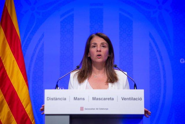 Arxiu - La consellera de Presidència de la Generalitat, Meritxell Budó.