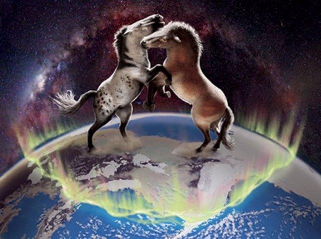 Los caballos antiguos cruzaron el puente terrestre de Bering en ambas direcciones entre América del Norte y Asia varias veces durante el Pleistoceno.