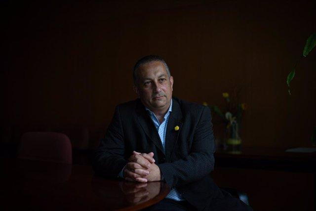 El president del Ctesc, Toni Mora, en una entrevista d'Europa Press