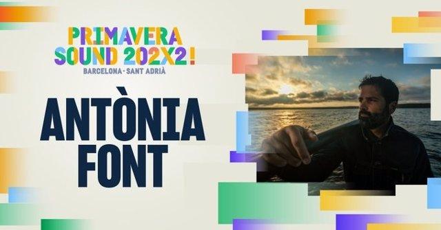 Cartell del concert d'Antònia Font en el Primavera Sound 2022