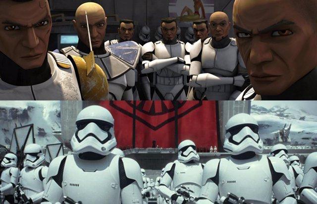 Star Wars La Remesa Mala es la historia de cómo el Imperio cambió los clones por reclutas en su ejercito Stormtroopers