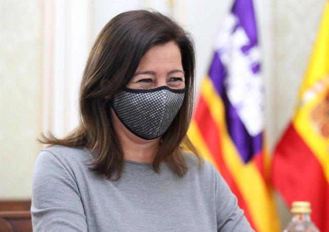 La presidenta del Govern Balear, Francina Armengol  a 13 de maig de 2021, a Madrid (Espanya).