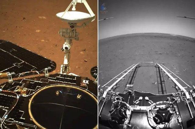 Primeras imágenes de Zhurong desde Marte