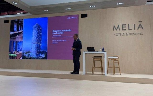 Presentación de Meliá en Fitur 2021.