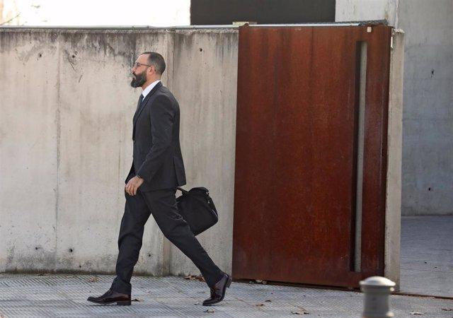 Archivo - Arxivo - El tinent coronel de la Guàrdia Civil que va investigar l'1-O, Daniel Baena, a la seva sortida de l'Audiència Nacional després de prestar declaració com a testimoni