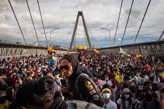 Imagen de las protestas en Colombia.
