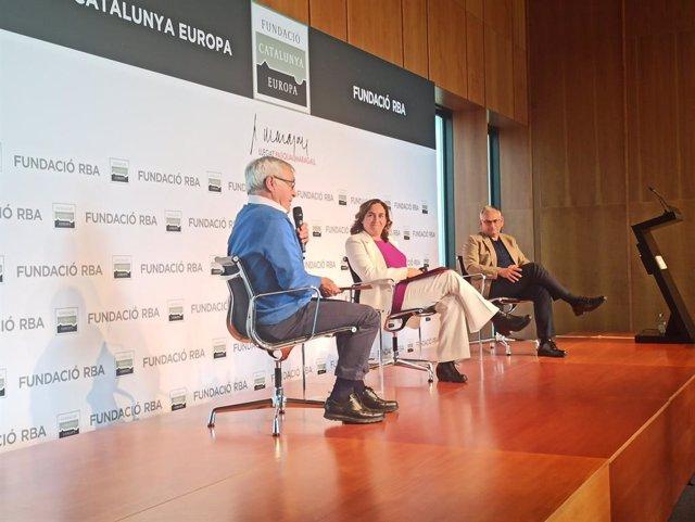 L'alcaldessa de Barcelona, Ada Colau, i l'alcalde de València, Joan Ribó , han protagonitzat la conferència anual de la Fundació Catalunya Europa dedicada a l'eix Mediterrani.