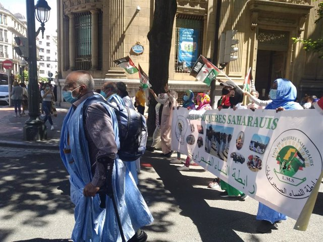 Manifestación de la comunidad saharaui en Bilbao