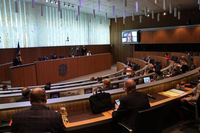 La sessió del Consell General d'Andorra, 20 de maig del 2021.