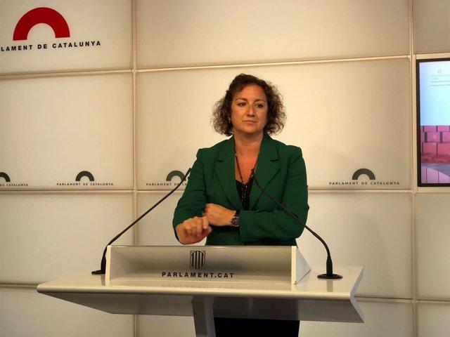 La portaveu del PSC en el Parlament, Alícia Romero, en la Càmera catalana
