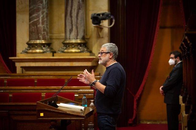 Archivo - Arxiu - El diputat de la CUP al Parlament Carles Riera.