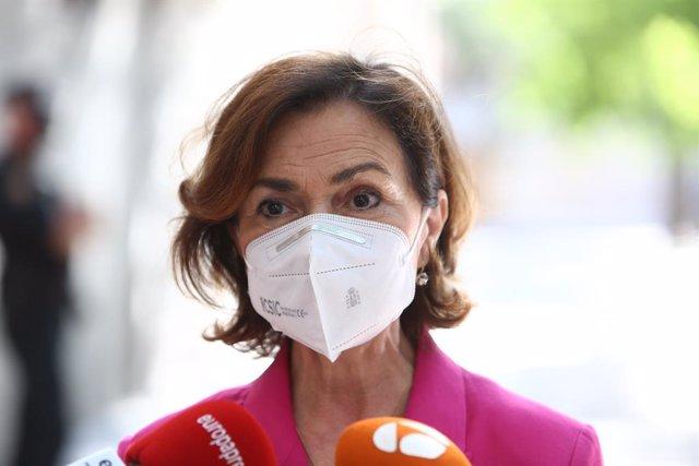 Arxiu - La vicepresidenta primera del Govern central, Carmen Calvo.