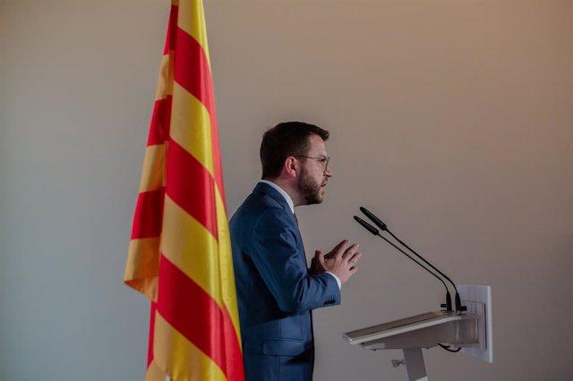 Archivo - Arxiu - El nou president de la Generalitat, Pere Aragonès.