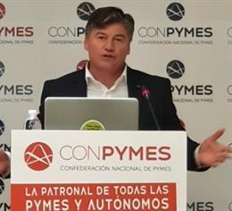 El president de Pimec, Antoni Cañete, aquest divendres.