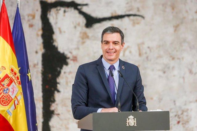 Arxiu - El president del Govern espanyol, Pedro Sánchez, en un acte a La Moncloa.