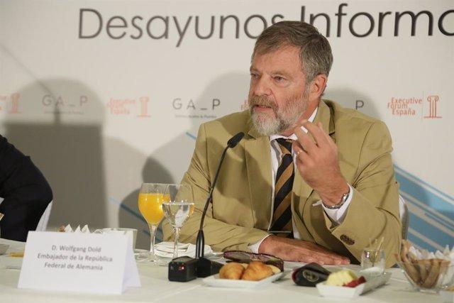 Archivo - El embajador de Alemania en España, Wolfgang Dold, en un desayuno de Executive Forum