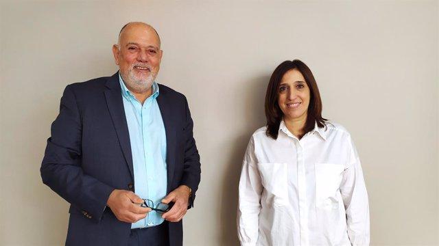Els advocats Gonçal Oliveros i Anna Boza, candidats a degà i vicedegana de l'Icab en les eleccions del 3 de juny de 2021.