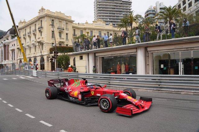 22 May 2021, Monaco, Monaco-Ville: Monegasque Formula One driver Charles Leclerc of Scuderia Ferrari Team in action during the 3rd Free Practice of the 2021 Formula One Monaco Grand Prix. Photo: Hasan Bratic/dpa