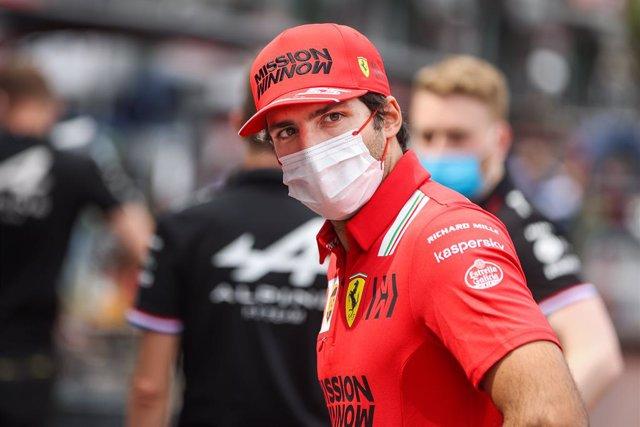 SAINZ Carlos (spa), Scuderia Ferrari SF21, portrait during the 2021 Formula One World Championship, Grand Prix of Monaco from on May 20 to 23 in Monaco - Photo Antonin Vincent / DPPI
