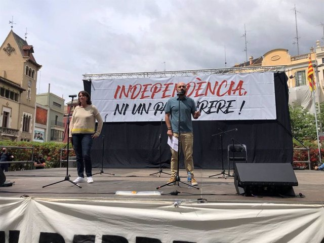 Acte de l'ANC i Òmnium a Figueres (Girona)