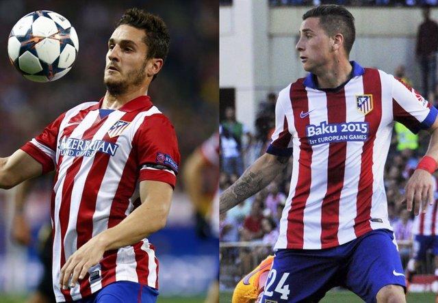 Koke y Giménez en partidos de la temporada 2013-14