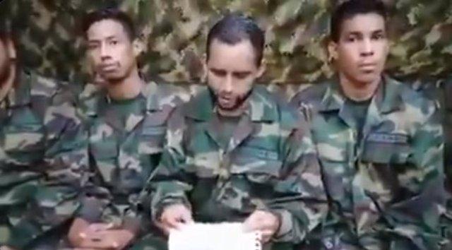 Militares venezolanos secuestrados por las disidencias de las FARC