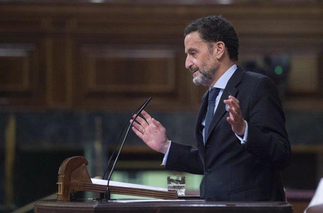 El vicesecretario general de Ciudadanos, Edmundo Bal, interviene en una sesión plenaria en el Congreso de los Diputados,