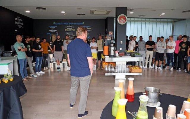 El Barça pone fin a su temporada con un desayuno en la Ciutat Esportiva Joan Gamper