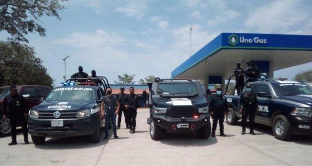 Policía del estado de Chiapas, en México