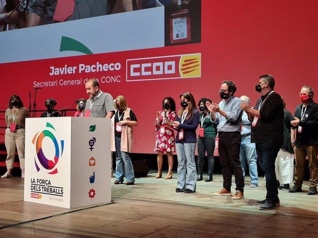 Acte de clausura del secretari general de CCOO de Catalunya, Javier Pacheco