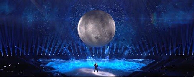Blas Cantó durante su actuación en Eurovisión 2021