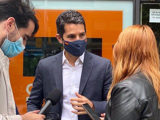 El diputat de Cs en el Parlament Nacho Martín Blanco en declaracions davant els mitjans